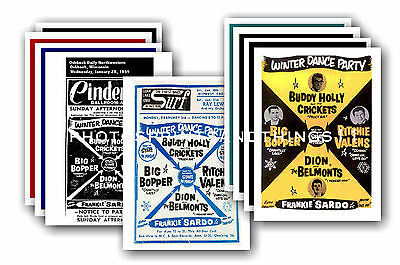 Big Bopper  - 10 promotional posters - collectable postcard set # 1