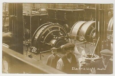 Unidentified postcard - Electric Light Works (Industrial) - Nice RP but where?