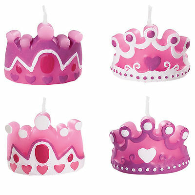 "Wilton New Princess Party Candles Birthday Girl Cupcake Cake 1 1/2"" X 1 1/2"""