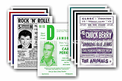 Carl Perkins  - 10 promotional posters - collectable postcard set # 1