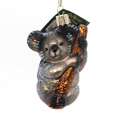 Old World Christmas KOALA BEAR Glass Ornament Australia 12356