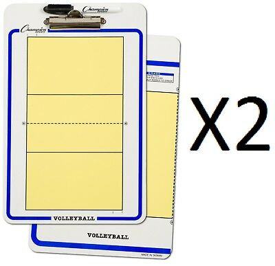 Champion Dry Erase 2 Sided Volleyball Coaching Board With Marker CBVB (2-Pack)