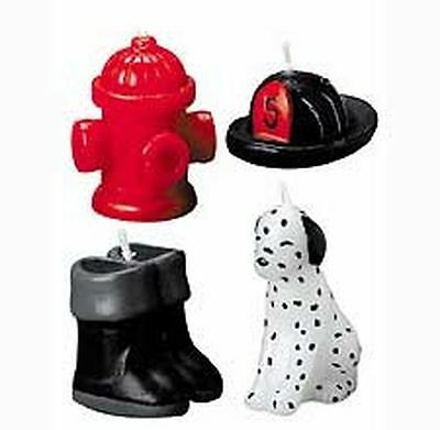 "Wilton Firefighting Candle Set, Birthday Cake Cupcake Celebration 1 1/2"" High"