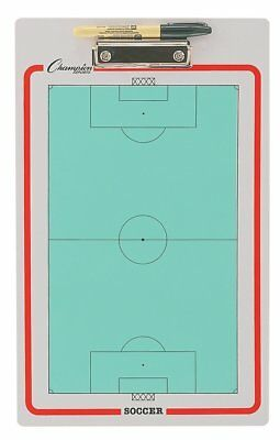 Champion Dry-Erase 2 Sided Soccer Coach Coaches Coaching Board With Marker CBSB