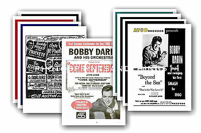 Bobby Darin  - 10 promotional posters - collectable postcard set # 1