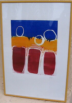 Vintage Abstract Modern Print Listed Rael Jero Salley Rhode Island Known Artist