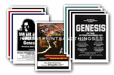 Genesis  - 10 promotional posters - collectable postcard set # 1