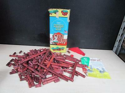 Vintage Original Lincoln Logs set 5C with all 261 pieces w/ box w/ Design Sheet!