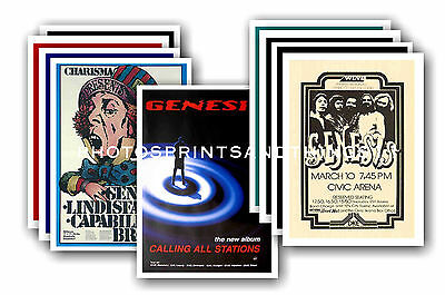 Genesis  - 10 promotional posters - collectable postcard set # 2