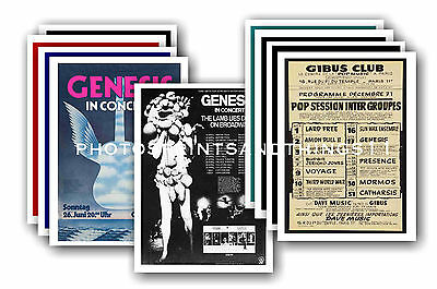 Genesis  - 10 promotional posters - collectable postcard set # 3