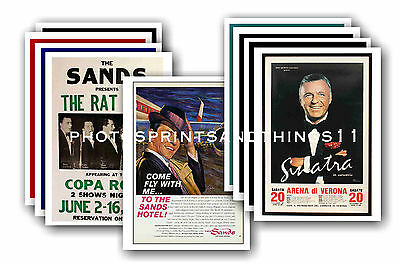 Frank Sinatra  - 10 promotional posters - collectable postcard set # 1