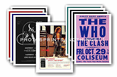 The Who  - 10 promotional posters - collectable postcard set # 2