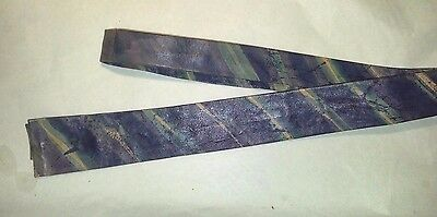Painted Leather Skinny Tie 1980s Hipster Rockabilly
