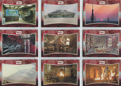 Star Wars the Force Awakens Series 1 Locations 9 Card Chase Set