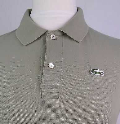 Vtg Lacoste Devanley Sage Green Polo Shirt -Size 3 / Small- DY14