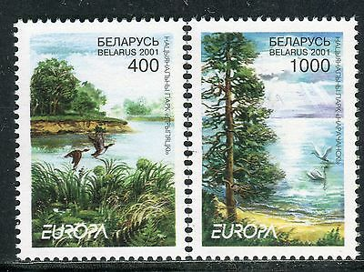 EUROPA CEPT 2001 - BELARUS - National Park - Birds - MNH Set