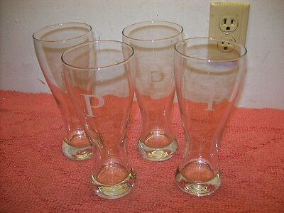 set of 4 cathy s concepts personalized pilsner glass set p new