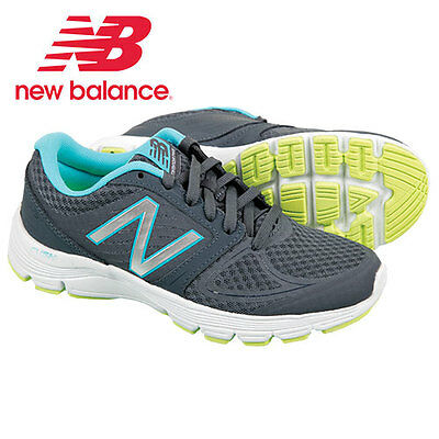 New Balance W575LT2 Grey/Blue Running Shoes - Women's Size 9