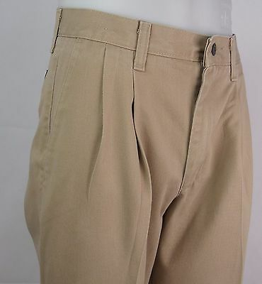 "Vtg Pleated Tapered  Preppy ""Lee"" Cotton Chino Trousers W30 DY07"