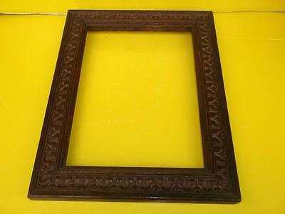 274 / Beautiful Late 19Th Century Art Nouveau Hand Carved Wooden Picture Frame