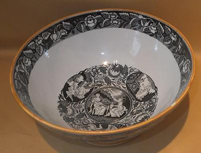 Death Of Nelson Commemorative Pearlware Large Punch Bowl Shorthose & Co 1805