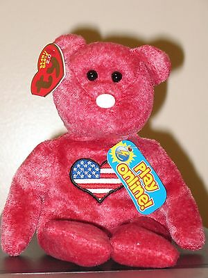 Ty Beanie Baby BB 2.0 ~ HEARTLAND the Bear (Internet Excl) ~ MINT with MINT TAGS