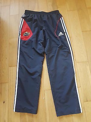 Munster Rugby  Official Adidas Tracksuit Bottoms Size Uk 34. Usa Medium