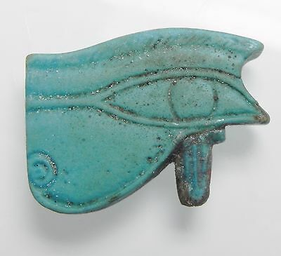 Zurqieh - Af2213- Ancient Large Faience Eye Of Horus Amulet, 1075 - 600 B.c
