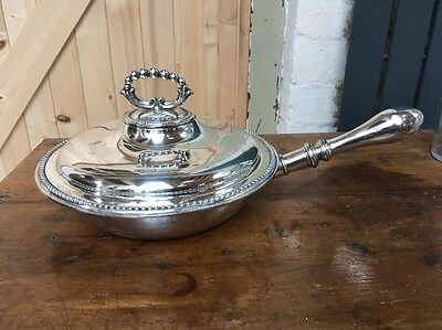 19c Antique Silver Plate Chafing Style Vegetable Serving  Dish