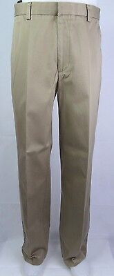 Flat Front Khaki Classic D3  Levis Dockers Preppy CHino Trousers W34 DY13