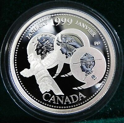 1999 Canadian Sterling Silver 25 cent Millennium coin  January A Country Unfolds