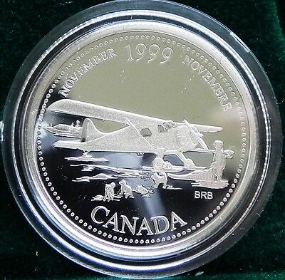 1999 Canadian Sterling Silver 25 cent Millennium coin November