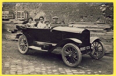 cpa CARTE PHOTO Superbe GROS PLAN VOITURE Ancienne AUTOMOBILE CAR vers 1920