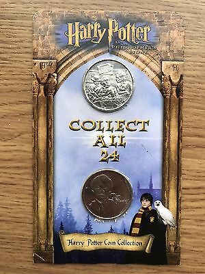 Harry Potter Coin 2x Coins on Original Card ASDA Gringotts Savings Bank Carded#2