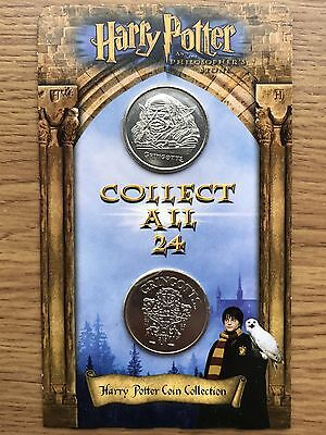 Harry Potter Coin 2x Coins on Original Card ASDA Gringotts Savings Bank Carded#1