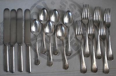 Vintage Silverplate Forks Spoons Knives Wm A Rogers SXR set of 16 Mono EM
