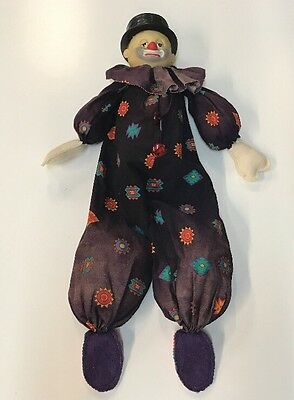 Vintage Hobo Doll Clown Sits Upright Creepy Clown