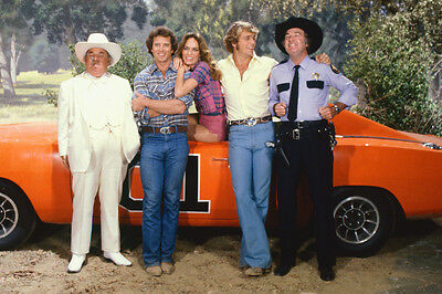 Dukes Of Hazzard Boss Hogg the Boys and Daisy By General Lee 11X17 Poster