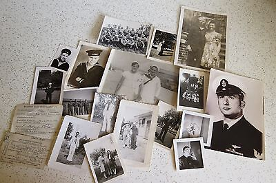 Vintage Lot Collection 17 Navy and Military Photos of WWII? Sailors, Soldiers +