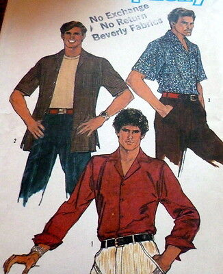 *GREAT MENS VTG 1970s SHIRT Sewing Pattern Size 42
