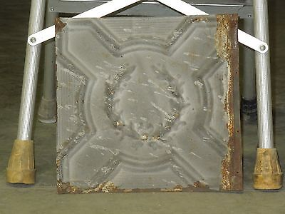 Old Antique ( Metal )  tin ceiling tile  / tiles 12x12 olive wreath