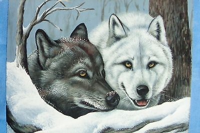 "Karen Hubbard super Cute tole painting pattern ""Winter Wolves"""