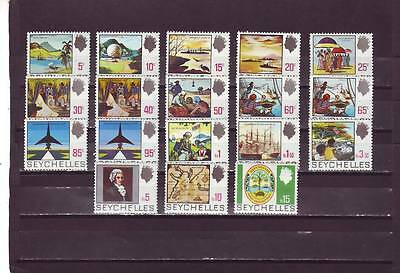 a118 - SEYCHELLES - SG262-279 MNH 1969 DEFINITIVES 5c - 15r - FULL SET