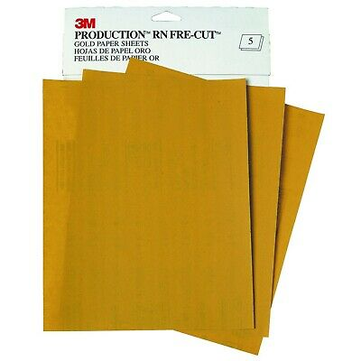 "3M 220 GRIT Production Gold Sandpaper 9"" x 11"" Sanding Sheet 50 in a box 2544"