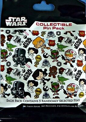 Star Wars Cuties MYSTERY Bag PIN PACK Disney Park Pins - SEALED NEW