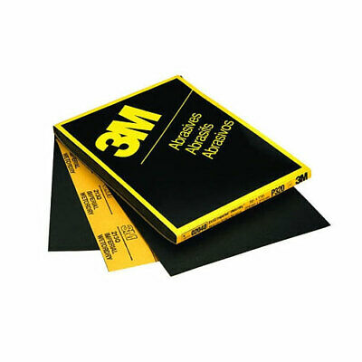"3M 600 GRIT Wet or Dry Black Sandpaper 9"" x 11"" Sanding Sheet 50 in a box 2036"