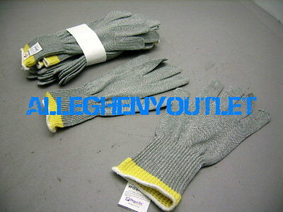 2 Pair STAINLESS STEEL Safety Cut Proof Resistant Butcher Elastic Gloves MEDIUM