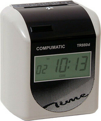 COMPUMATIC TR880d HEAVY DUTY TIME CLOCK + CARDS & RACK