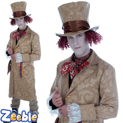 Adult Mad Hatter Fancy Dress Costume Book week Wonderland Outfit