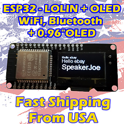 "ESP-WROOM-32 0.96"" ESP32 OLED WIFI-BT Dual-mode 2.4GHz For Wemos D1 AP STA L"